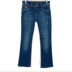 Rock Revival Jen Bootcut Distressed Denim Jeans